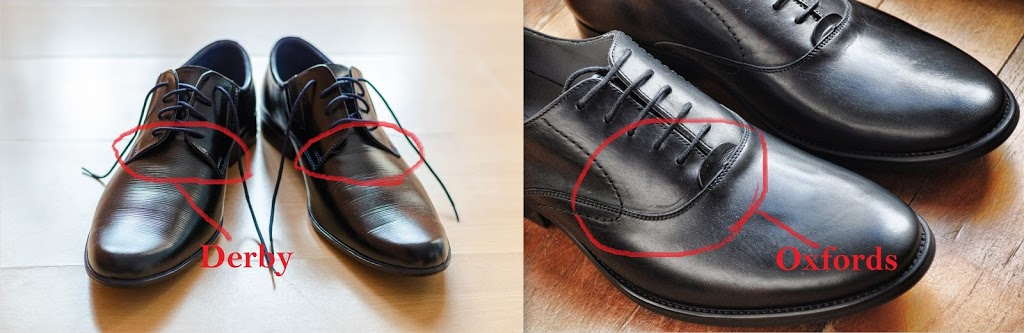 difference between oxford and derby shoes