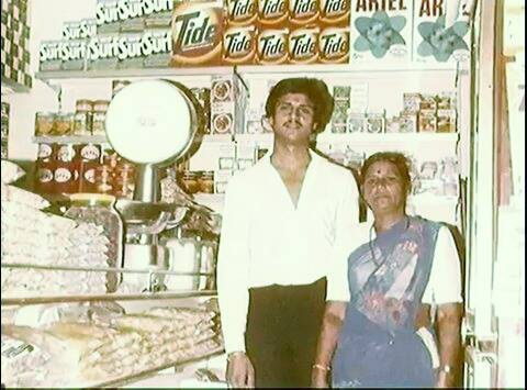Young dhananjay datar with his mother