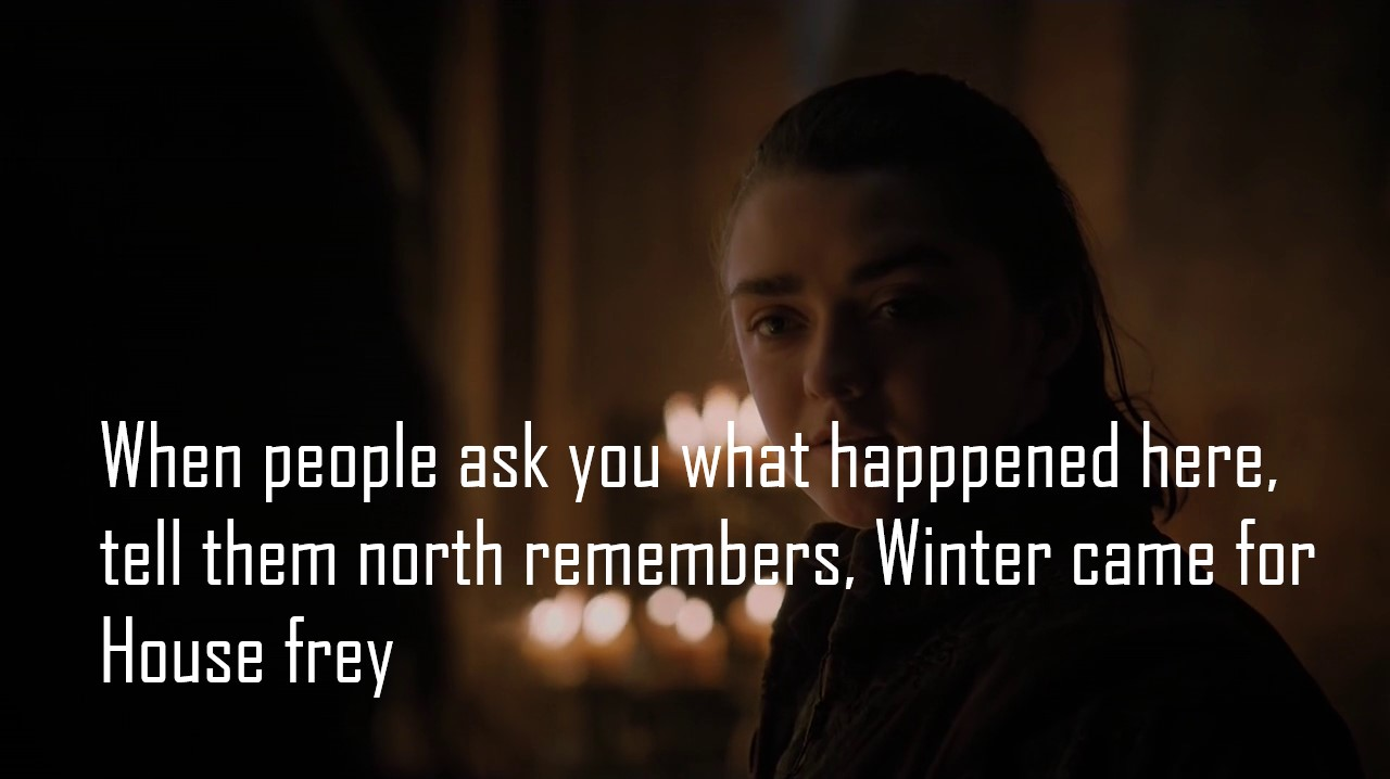 game of thrones arya stark best dialogues