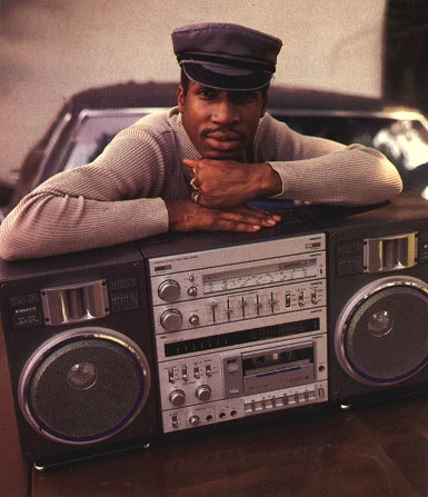 Grandmaster flash with boombox