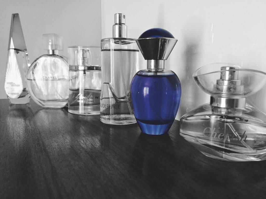 different perfume bottles