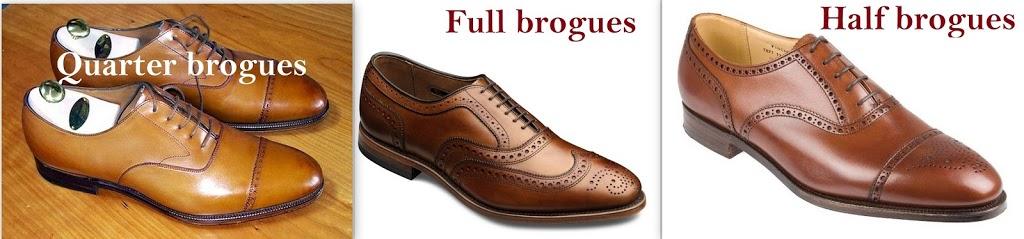 quarter brogues, full brogues, half brogues shoes