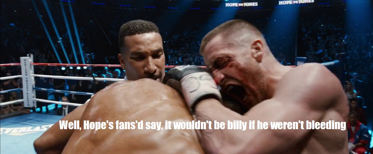 Bill hope boxing in southpaw dialogue